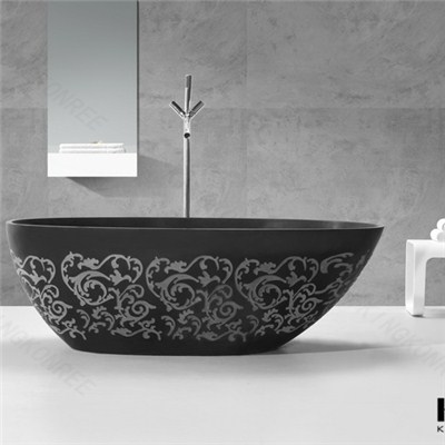Black Acrylic Bathtub,solid Surface Black Bathtub,whoesale Acrylic Black Bathtub