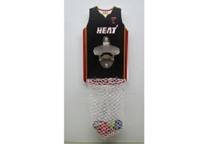 Basketball Wall Mount Bottle Opener With Net Catcher DY-BO20
