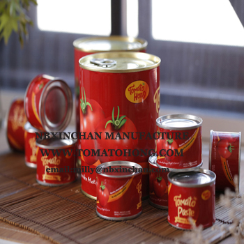 100% purity canned tomato paste cans tin