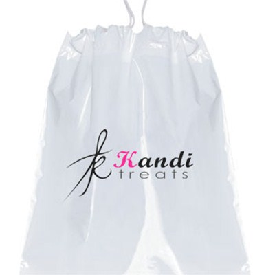 12 X 16 X 4 Plastic Drawstring Bags W/ Cotton Draw