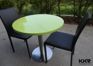 2015 Round Table Artificial Stone Solid Surface Marble Cafe Table