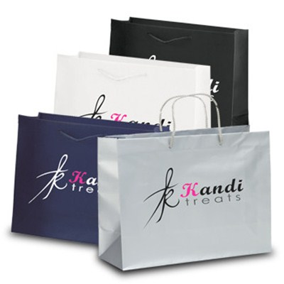Rome Matte Eurotote Foil Hot Stamp Promo Shopping Bags