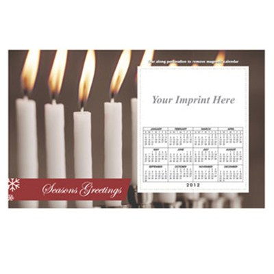 Printed White Candles 8.5inch X 5.25inch Magnets