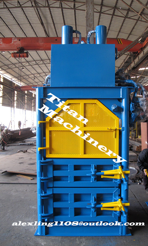 aluminum cans plastic bottle baler baling machine