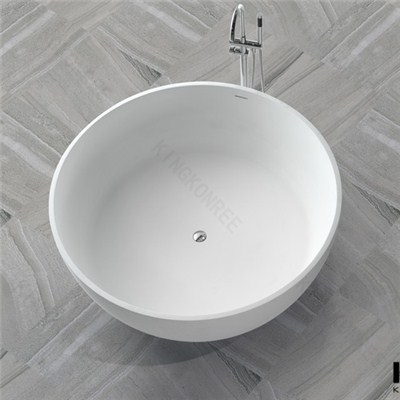 148cm Round Solid Surface Bowl Bathtub