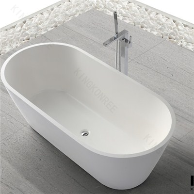 White Artificial Marble Stone Freestanding Bathtub For Sale