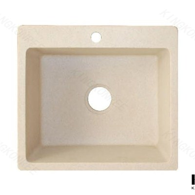 KKR Acrylic Solid Surface Undermount Bathroom Round Sink