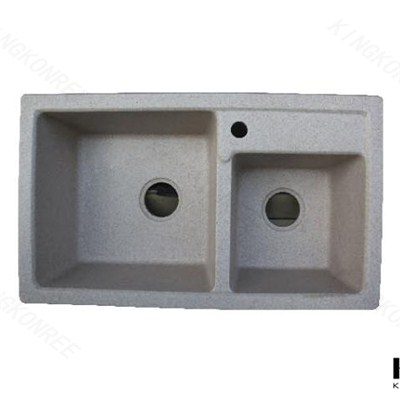Solid Surface Kitchen Sinks / Undermount Kitchen Sink / Double Bowl Kitchen Sink