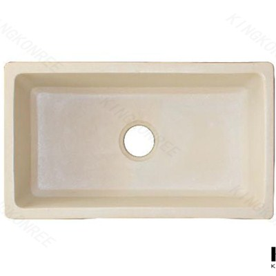 Solid Surface Sink Elegant, Solid Surface Undermount Kitchen Sink, Glacier White Solid Surface Sink 804