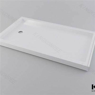 100 Solid Acrylic Surface Corner Shower Base Tray