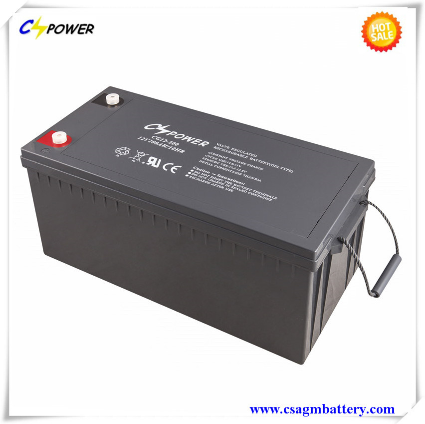 Cspower Rechargeable Battery 12V200ah for Solar Systems and UPS