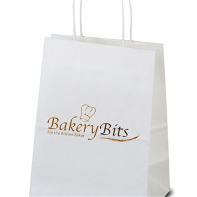 Custom Mini White Paper Shopping Bags