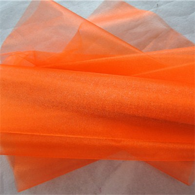 Orange Snow Organza