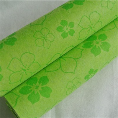Flower Printed Nonwoven