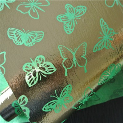 Gold Printed Butterfly Nonwoven