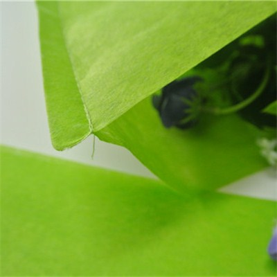 Green Nonwoven Flower Sleeves