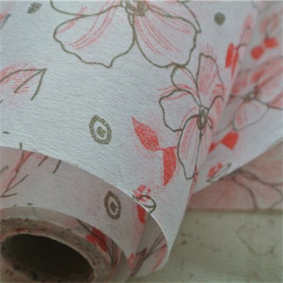 Nonwoven Rolls With Printed Flower