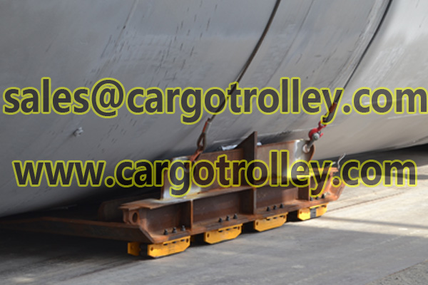 Equipment transport dolly for moving and handling works