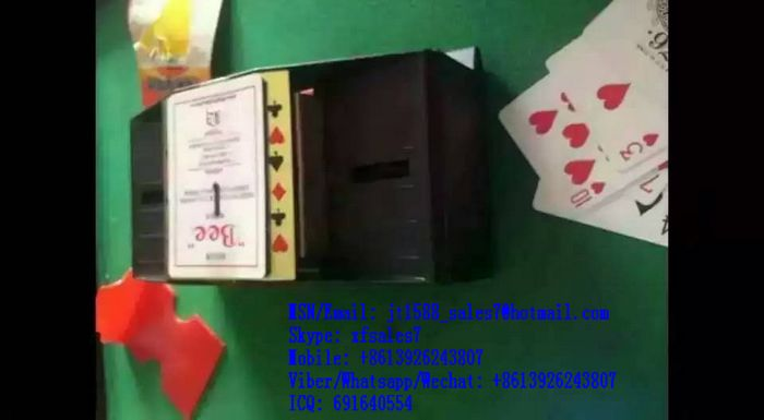XF Baccarat Shuffle Machine Poker System / luminous card / Marked cards / Micro Earphone / Texas hold em cheat / poker scanner / contact lenses
