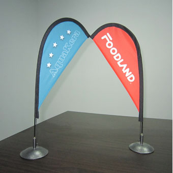 Fiberglass Flagpole Mini Flag -1