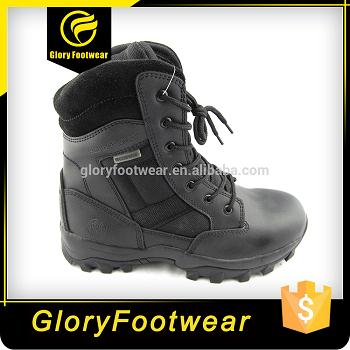 Genuine Full-Grain Cow Leather Military Boots