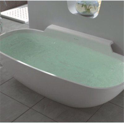 Snow white solid surface bathtub BAT-002