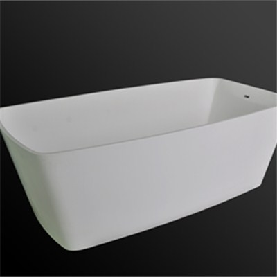 Rectangular solid surface bathtub BAT-003