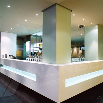 Corian White Bar Counter Led Light