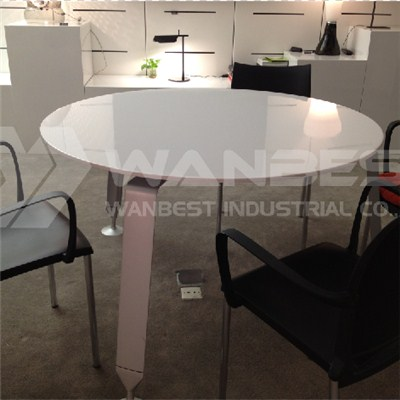 Big Round Solid Surface Dining Table