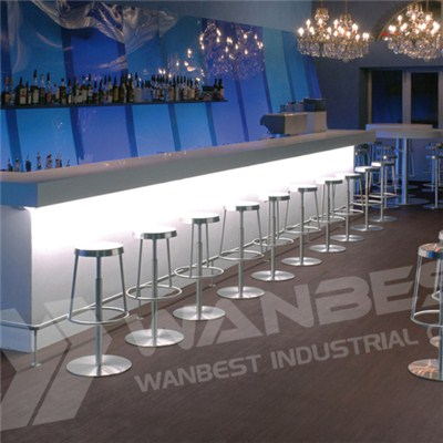 White And Blue Bar Counter