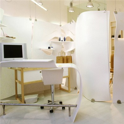 Corian Doctor Examination Station White Desk