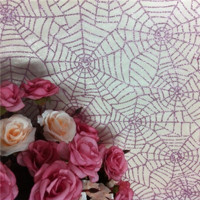Spider Web Glittered Organza