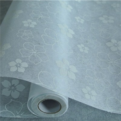 White Printed Nonwoven
