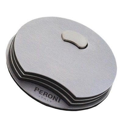CA013 Stainless Steel Barware Coasters With Bottle Opener And EVA Backing