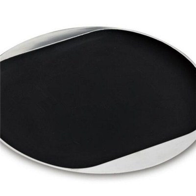 WT012 Stainless Steel Barware Oval Serving Tray Wine Tray Bar Tray With Rubber Finish