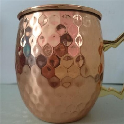 MM025 16oz Barware 100% Pure Copper Moscow Mule Mugs Beer Cup Coffee Mug PIT Mug