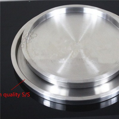 WT001 Stainless Steel Barware Double-Walled Serving Tray Wine Tray Bar Tray Round Tray