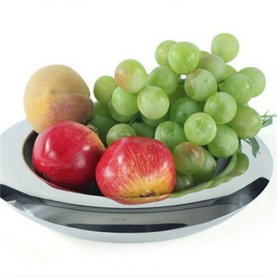 FH008 Stainless Steel Barware Double-Walled Fruit Holder Fruit Plate Fruit Bowl