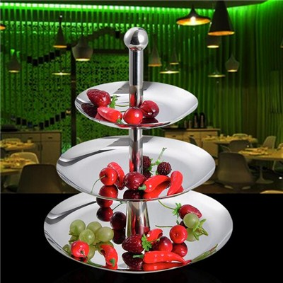 FH014 Stainless Steel Barware Fruit Holder Fruit Plate Fruit Bowl