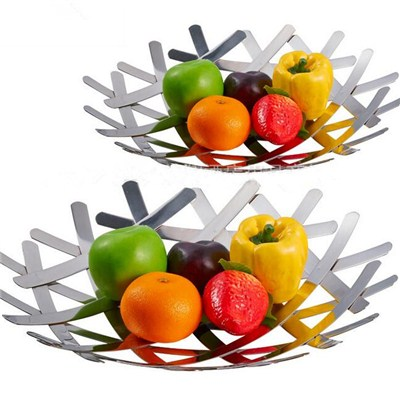 FH016 Stainless Steel Barware Fruit Holder Fruit Plate Fruit Bowl Serving Tray
