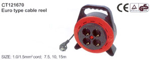 Euro type cable reel