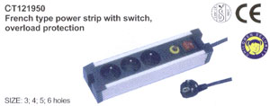 French type power strip