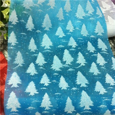Christmas Tree Printed Nonwoven