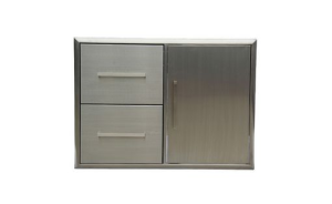 BBQ Double Drawer And Door Combo