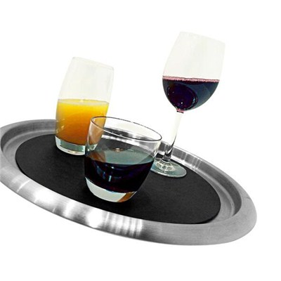 WT003 Stainless Steel Barware Serving Tray Wine Tray Bar Tray Round Tray