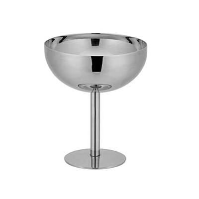 MM030 5.5oz FDA Stainless Steel Barware Mug Double-Walled Champagne Cup with Cooling Gel Martini Cup Modern Wine Goblet