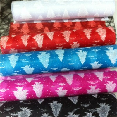 Christmas Trees On Nonwoven Fabric
