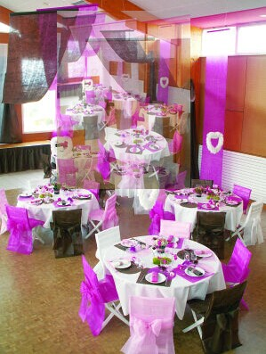 Nonwoven Chair Cover And Table Decoration