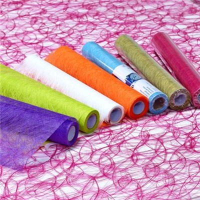 Colorful Long Fiber Nonwoven Rolls