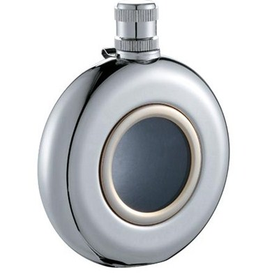 HF003 4.5oz Stainless Steel Barware Round Shape Hip Flask with Different Size and Window